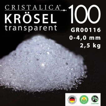 Cristalica 100 Krösel 0 - 4 mm (2500g) transparent