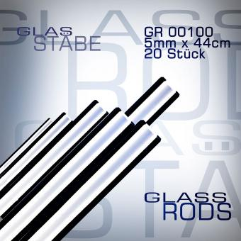 Cristalica 100 glass rods 20 pieces 5 mm x 44 cm