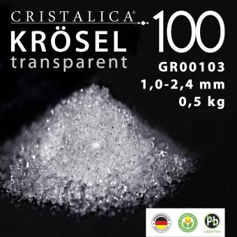 Cristalica 100 Krösel 1 - 2,4 mm (500g) transparent